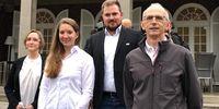 """Foto: DSB / Freuen sich """"hessisch"""" auf Olympia: Natascha Hiltrop, Doreen Vennekamp, Oliver Geis und Detlef Glenz (v.l.)."""