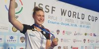 Foto: DSB / Nach EM-Gold nun Weltcup-Silber: Carina Wimmer scheint Gefallen an der Edelmetall-Jagd zu finden.